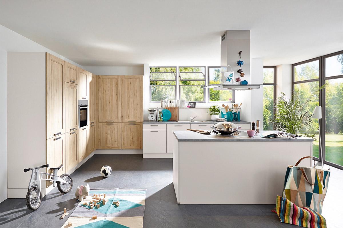 nobilia laser cottage seidengrau mit bauknecht ger ten. Black Bedroom Furniture Sets. Home Design Ideas