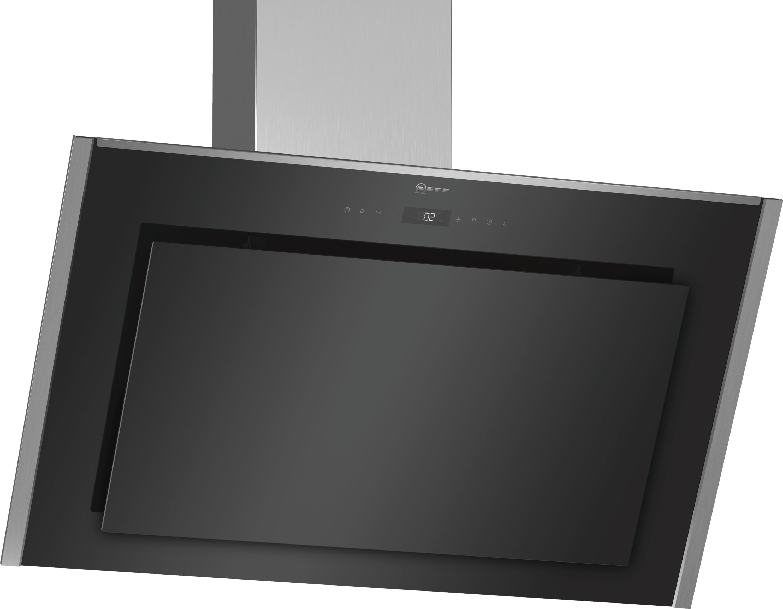Design:   Filterabdeckung in Glas  Glasscheibe: schwarz bedruckt  Reinigungsfreundlicher Aerodynamisch optimierter Innenrahmen  Für Wandmontage über Kochstellen   Ausstattung:   AirFresh Intervall-Lüftung  TouchControl (3 Leistungsstufen und 2 Intensivstufen) mit LED-Anzeige