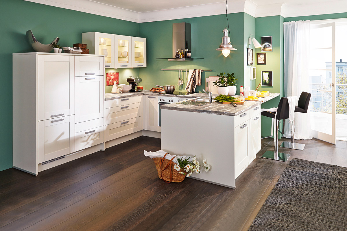 Moderne Landhauskuche Nobilia Cottage Weiss Mit Siemens Geraten