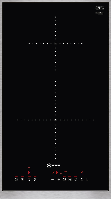 neff ntd4320n induktion kochstelle domino n43td20n0 autarkes induktions kochfeld mit. Black Bedroom Furniture Sets. Home Design Ideas