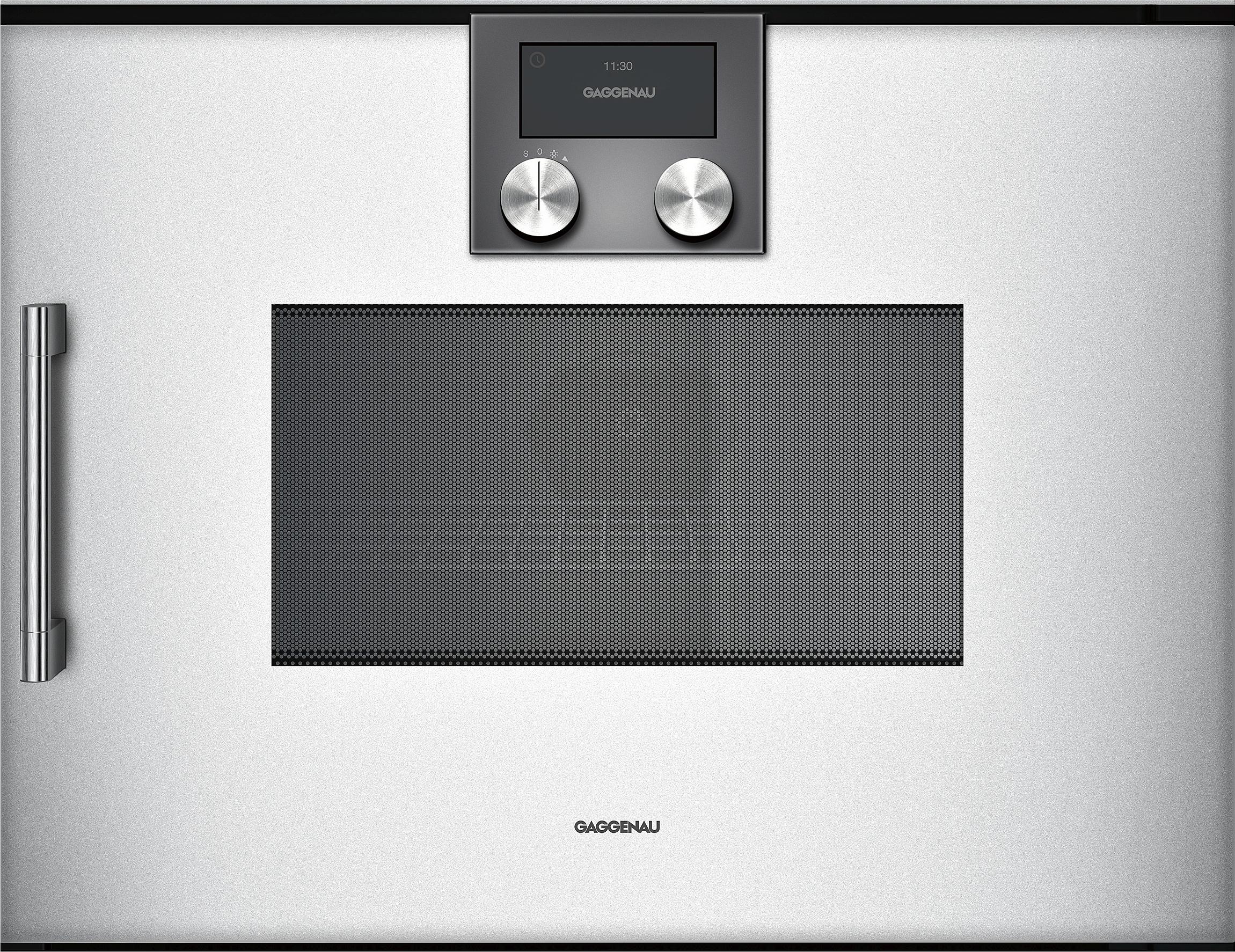gaggenau bmp250130 mikrowellen backofen serie 200 vollglast r in gaggenau silber breite 60 cm. Black Bedroom Furniture Sets. Home Design Ideas