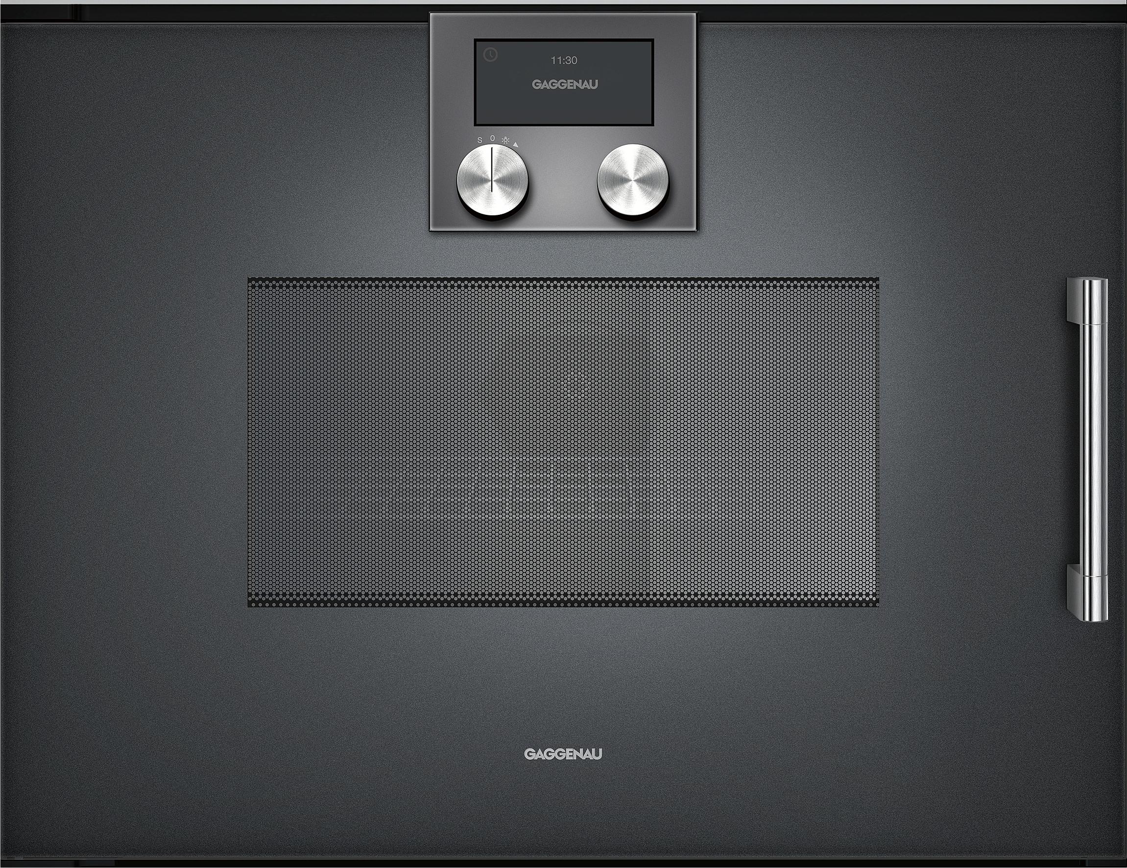 gaggenau bmp251100 mikrowellen backofen serie 200 vollglast r in gaggenau anthrazit breite 60 cm. Black Bedroom Furniture Sets. Home Design Ideas