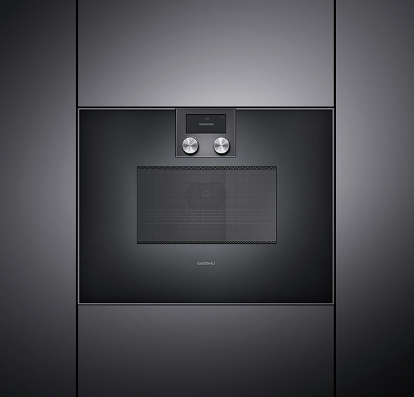 gaggenau bm450100 mikrowellen backofen serie 400 vollglast r in gaggenau anthrazit breite 60 cm. Black Bedroom Furniture Sets. Home Design Ideas