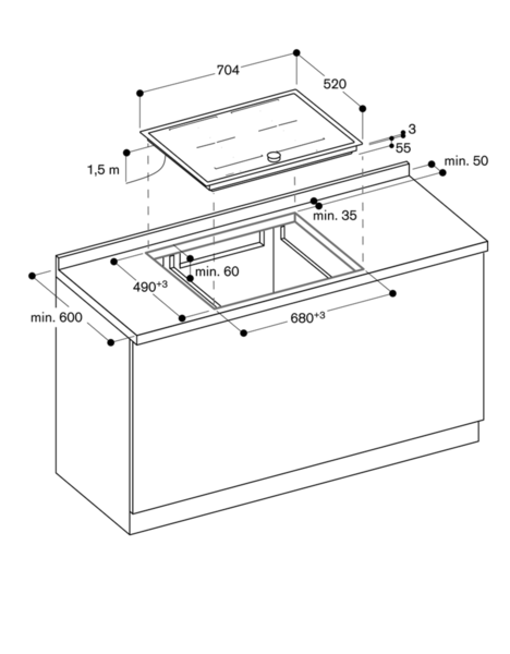 flex induktionskochfeld serie 200 ci272110 edelstahlrahmen breite 70 cm. Black Bedroom Furniture Sets. Home Design Ideas