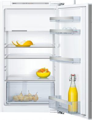 Ausstattung:   Flachscharnier  LED Beleuchtung   Kühlteil   Kühlraum: 139 l Nutzinhalt  3 Abstellflächen aus Sicherheitsglas