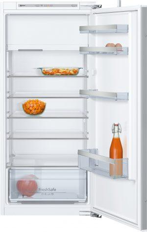 Ausstattung:   Flachscharnier  LED Beleuchtung   Kühlteil   Kühlraum: 180 l Nutzinhalt  5 Abstellflächen aus Sicherheitsglas