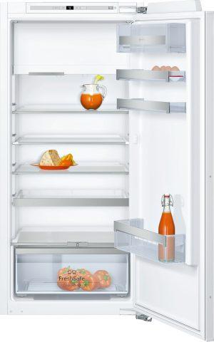 Ausstattung:   Flachscharnier  EmotionLight - sanft aufdimmende LED-Innenbeleuchtung   Kühlteil   Kühlraum: 180 l Nutzinhalt  5 Abstellflächen aus Sicherheitsglas (4 höhenverstellbar)