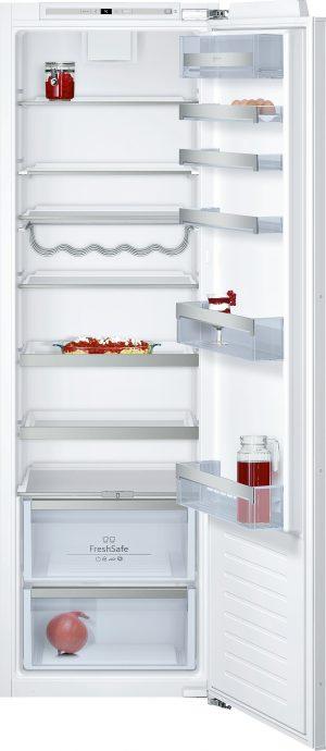 Ausstattung:   Flachscharnier  LED Beleuchtung   Kühlteil   Kühlraum: 319 l Nutzinhalt  7 Abstellflächen aus Sicherheitsglas (6 höhenverstellbar)