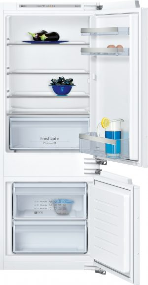 Kühlteil   Kühlraum: 157 l Nutzinhalt  4 Abstellflächen aus Sicherheitsglas