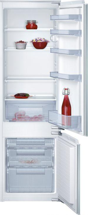 Ausstattung:   Flachscharnier   Kühlteil   Kühlraum: 217 l Nutzinhalt  5 Abstellflächen aus Sicherheitsglas